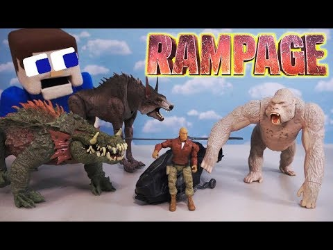 Rampage Movie Toys Lizzie Vs George Vs Ralph Unboxing Commercial