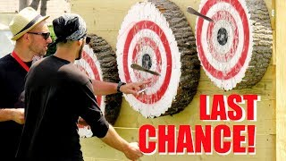 World Champion VS Intense Knife Throwing Competition