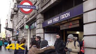 London Walk: Baker Street【4K】
