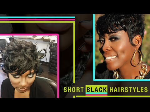 Short Black Hairstyles Short Hair Cuts For Black Women Youtube
