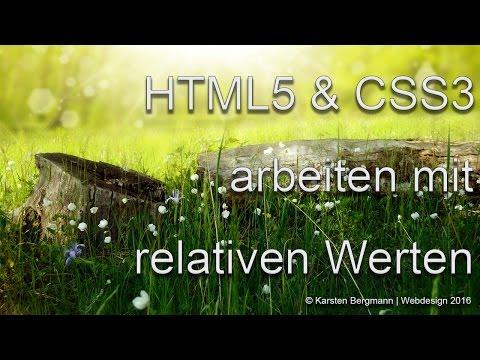Relative Werte In HTML5 & CSS3, Responsive Programmierung Tutorial