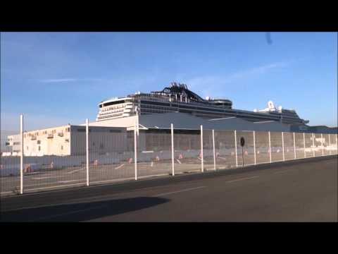 MSC Preziosa Marseilles Taking Free Port Shuttle