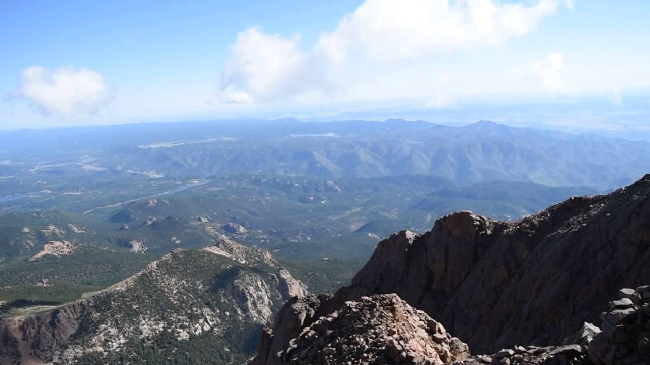 View from the top of Pikes Peak. - YouTube