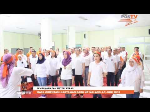 MASA ORIENTASI KARYAWAN BARU KANTOR POS MALANG 2016