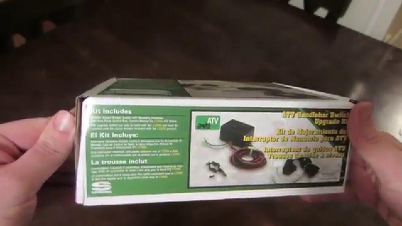 unboxing superwinch atv handlebar switch upgrade kit [ 1280 x 720 Pixel ]