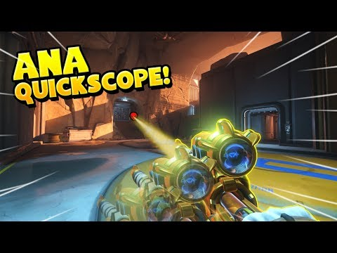 THIS Is How To  QUICKSCOPE With Ana!! - Overwatch Funny Moments Best Plays 38
