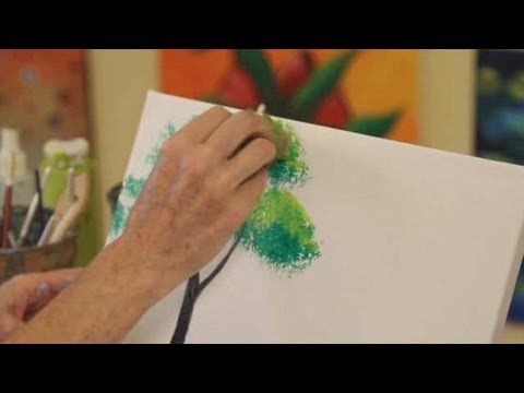 How To Paint A Tree Acrylic Painting Youtube