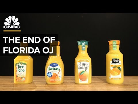 Why Most Orange Juice Comes From Brazil, Not Florida | CNBC