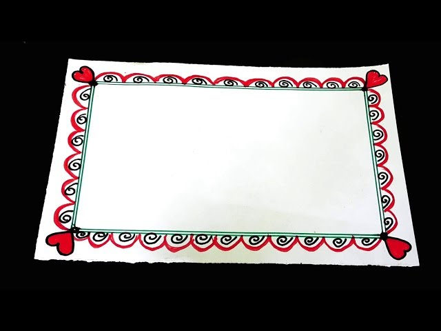Easy border design on paper || School project work design || Latest project file