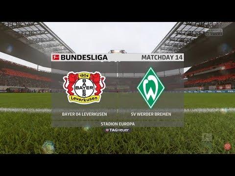 BAYER LEVERKUSEN VS WERDER BREMEN PREDICTION   FIFA 18 GAMEPLAY   13.12.2017