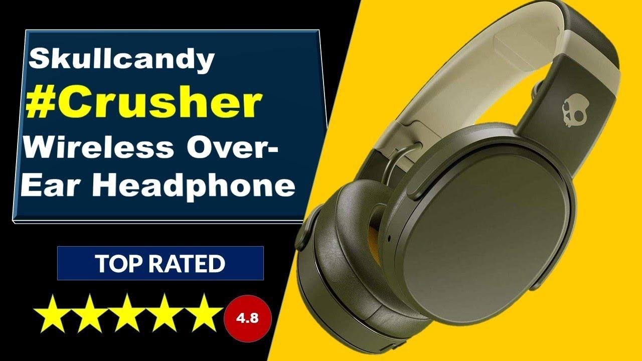 Skullcandy Crusher Wireless Over Ear Headphone Skullcandy Headphones In Amazon Youtube