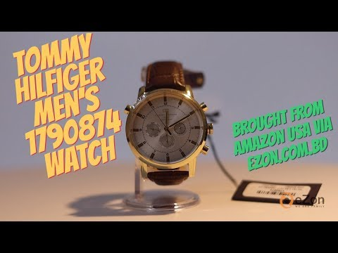 unboxing-tommy-hilfiger-men's-1790874-gold-tone-watch-with-brown-leather-band-|-360°-product-video