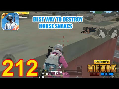 Best Way To Destroy House Snakes   PUBG Mobile Lite Gameplay