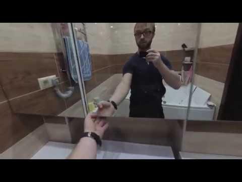 Мебель в ванную комнату белый глянец. Тумба под умывальник из МДФ. Зеркальный шкаф в ванную. Киев