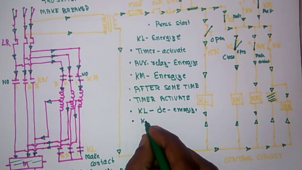 wiring diagram of auto transformer starter wiring diagrams favorites autotransformer starter diagram working explaination [ 1280 x 720 Pixel ]