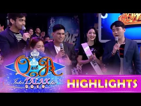 It's Showtime Miss Q and A: Ryan asks Miss Intercontinental Korea if she is single