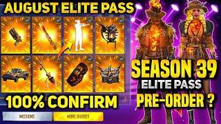 august Elite Pass Free Fire 2021  Season 39 Elite Pass Free Fire    Elite Pass in Free Fire august