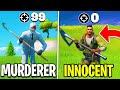 *INSANE* 100 Player MURDER MYSTERY In Fortnite! (Ft. EvanTube)