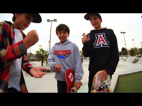 11 YEAR OLD SKATEBOARDERS | 3 WAY WHOLE PARK SKATE