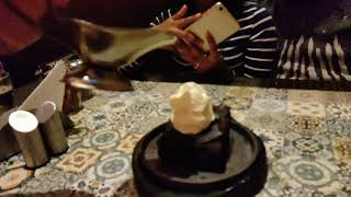 Sizzling brownie slow mo