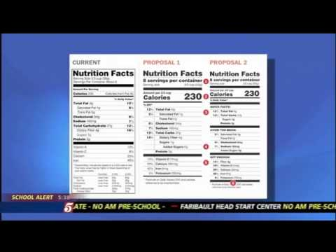 New Food Labels Would Highlight Calories and Sugar
