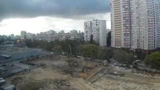 Time lapse, Kyiv, Ukraine. 2016/09/28(Kyiv, Ukraine. 28 Sep 2016. SJCAM M10, 10 sec. www.yaskraviy.com Киев, Украина. Видео о том, как строится ЖК