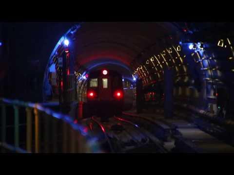 MTA NYC Subway Q trains leaving 72nd St