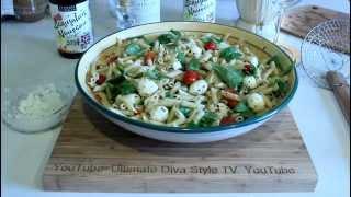 Mini Penne Pasta Salad ~ With A Nod To Insalata Caprese