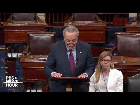 Senate Minority Leader Chuck Schumer responds to Trump-Comey memo story