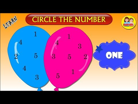 Learn Numbers for Kids | Circle the Correct Number | Math Activities for Kids