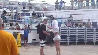 Bride and Groom dancing in Carnival Liberty 2013