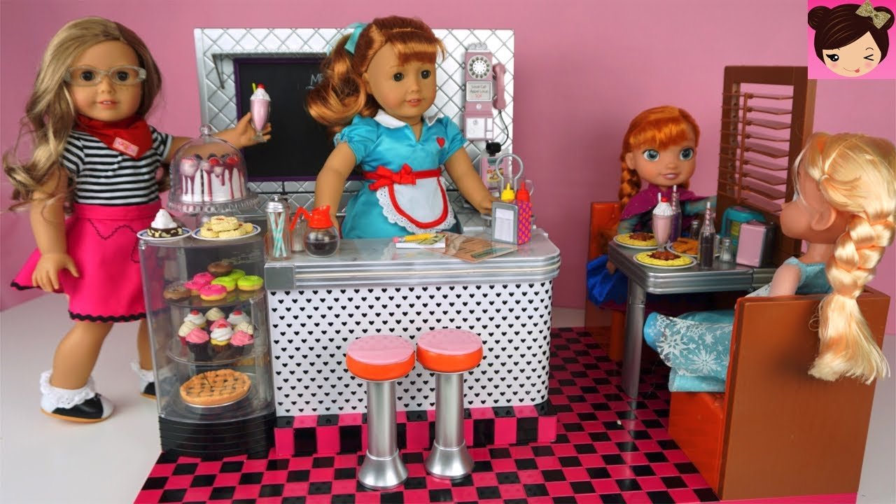 Doll Toy Kitchen Diner With Frozen Elsa Anna Toddlers
