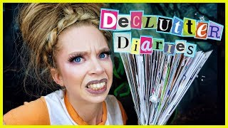 Sorting Trash I've HOARDED for 3+ YEARS?! - DECLUTTER DIARIES