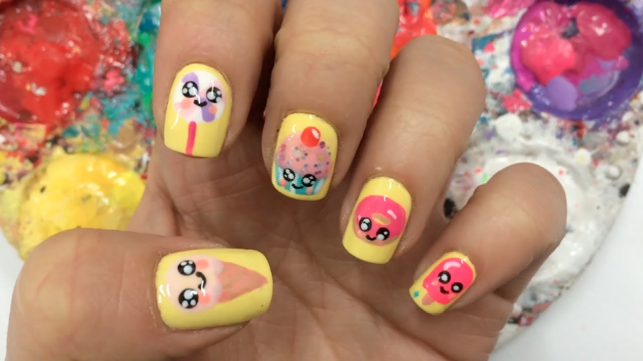 Decoracion de u as vacaciones kawaii holiday kawaii nail for Decoracion de unas simple