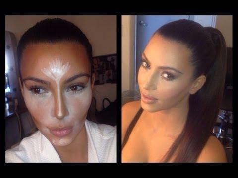 HOW TO CONTOUR & HIGHLIGHT: Kim Kardashian Makeup