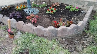 Super Easy And Natrual Way To Set Your Flower Garden Stone!