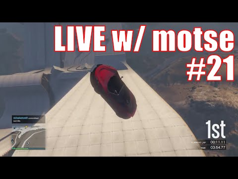 Motsinator's crazy playlist 10 jobs + DM CRAZY CARS - GTA 5 online - LIVE motse #21