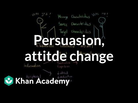 Persuasion, Attitude Change, And The Elaboration Likelihood Model   MCAT   Khan Academy