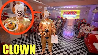 when you see clowns inside clown restaurant, DO NOT order food!! Get out as fast as you can!!