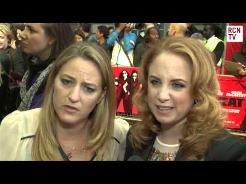 The Heat UK Premiere Jessica Chaffin & Jamie Denbo