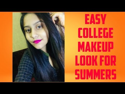 Easy College Makeup Look For Summers