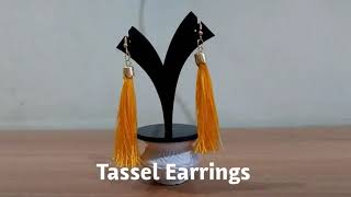 DIY | Tassel Earrings | Trendy Earrings | Silk Thread Tassel Earrings | DIY Fashion Accessory