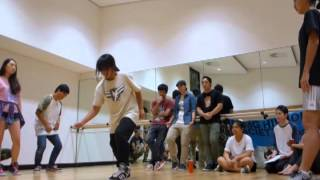 Mini BEATDOWN 2015 | 2V2 All Styles Battle Top 8: Jeremy & Fiona vs Peggy & Cassie