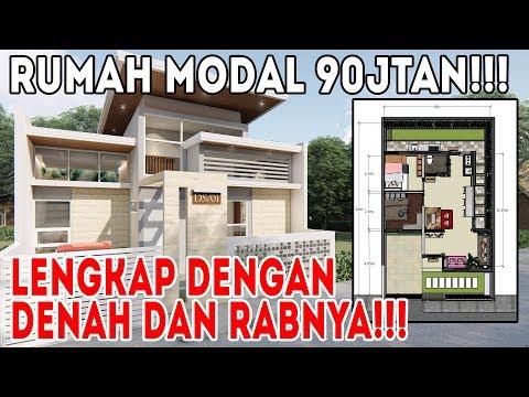 Bangun rumah dari desain ini cuma modal 90 jutaan, mantab habis!!