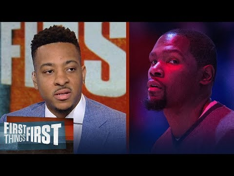 C.J. McCollum on why KD is the key for Warriors to defeat the Rockets | NBA | FIRST THINGS FIRST
