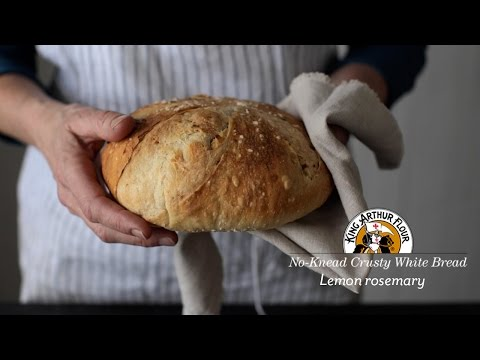 No-Knead Crusty White Bread: Lemon Rosemary