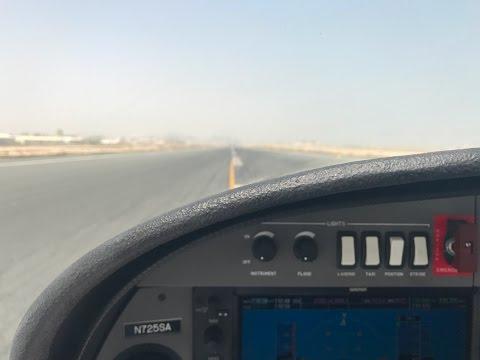 DA-42NG Landing at Doha Airport with Cross Wind