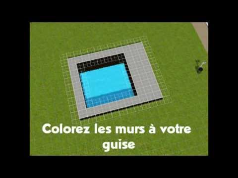 Tutoriel sims 3 piscine d bordement youtube for Piscine a debordement