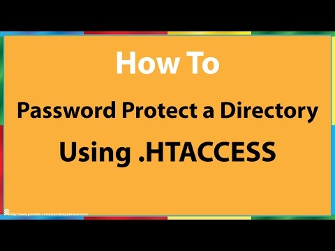 How to Password Protect a Directory With.htaccess