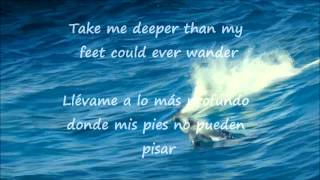 HILLSONG OCEANS (where feet may fail) lyrics English-Spanish